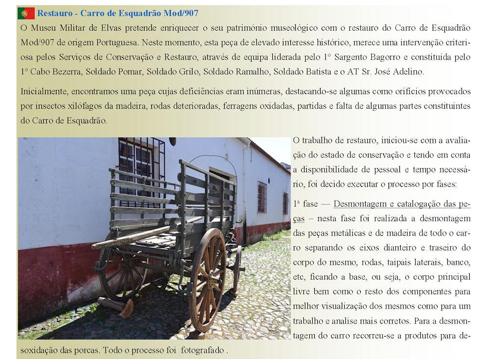 Museu Militar de Elvas - Restauro - Carro de Esquadrão Mod/907 0112