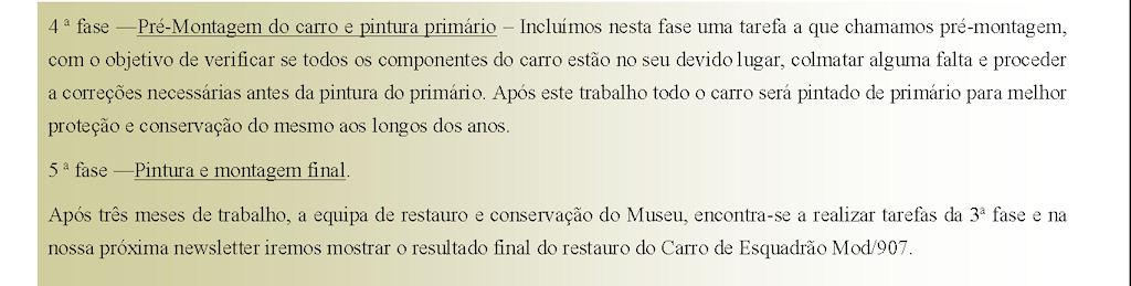 Museu Militar de Elvas - Restauro - Carro de Esquadrão Mod/907 0313