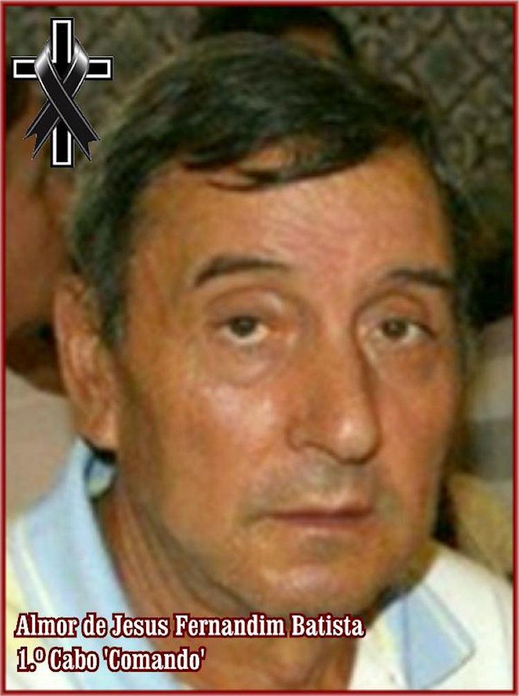 Faleceu o veterano Almor de Jesus Fernandim Batista, 1.º Cabo CMD, da 38ªCCmds - 12Jul2019 38ccmd15