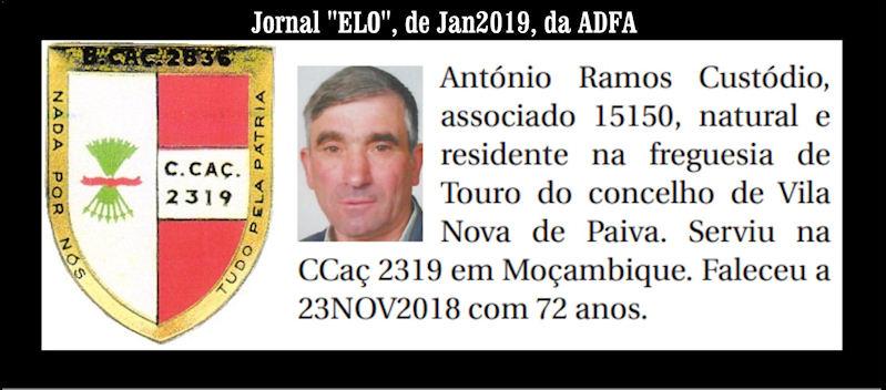 Notas de óbito publicadas no Jornal «ELO» de Janeiro de 2019 da ADFA Antzni12