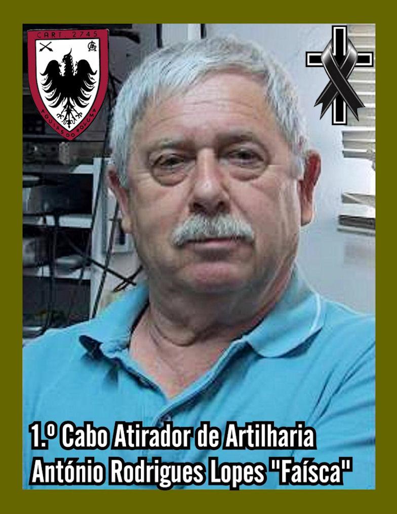 Faleceu o veterano António Rodrigues Lopes. 1.º Cabo de Artilharia, da CArt2745 - 30Jan2021 Antzni41
