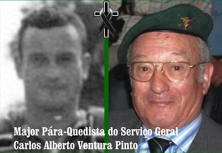 Faleceu o veterano Carlos Alberto Ventura Pinto, Major SG Pára-Quedista - 06Mar2020 Carlos18