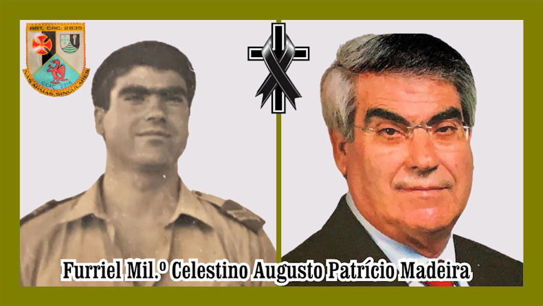 Faleceu o veterano Celestino Augusto Patrício Madeira, Furriel Mil.º, da CCac2316 - 16Set2021 Celest10