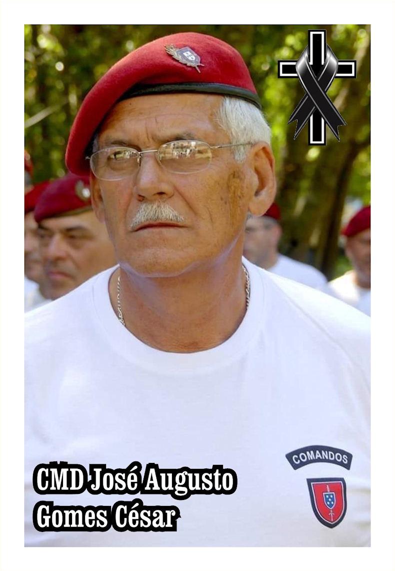 Faleceu o veterano José Augusto Gomes César, Comando, da 6ªCCmds - 24Abr2020 Cmd_jo11