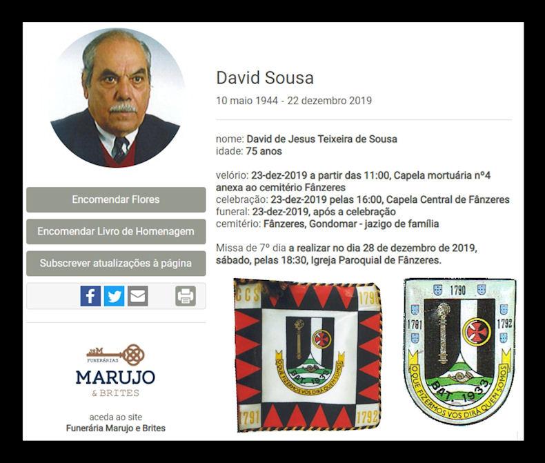 Faleceu o veterano David de Jesus Teixeira de Sousa, Furriel Mil.º, da CCS/BCac1933 - 22Dez2019 David_13