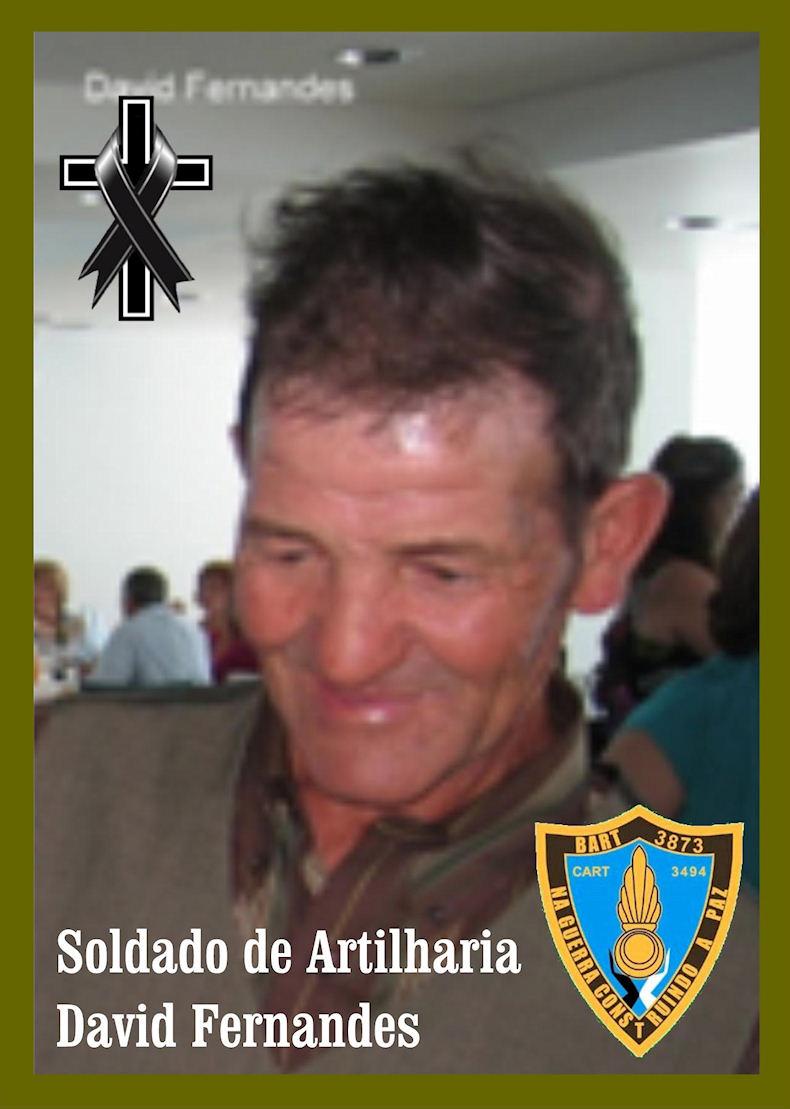 Faleceu o veterano David Fernandes, Soldado, da CArt3494 - 28Jun2019 Davidf11