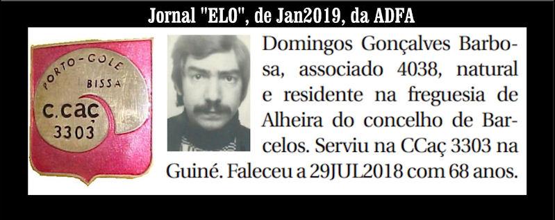 Notas de óbito publicadas no Jornal «ELO» de Janeiro de 2019 da ADFA Doming11