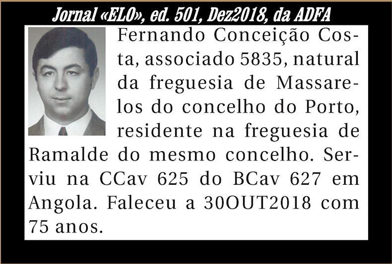 Notas de óbito publicadas no Jornal «ELO» de Dezembro de 2018 da ADFA Fernan11