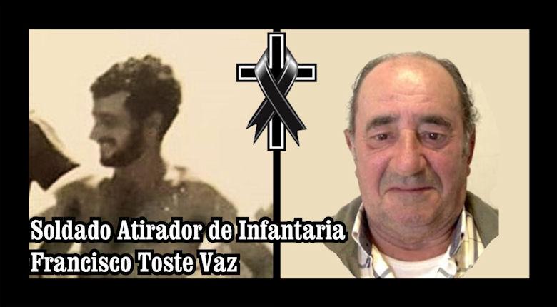 Faleceu o veterano Francisco Toste Vaz, Soldado Atirador, da CCac3327 - 30Mar2020 Franci11
