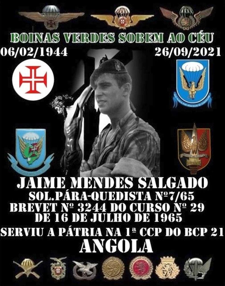 Faleceu o veterano Jaime Mendes Salgado, Soldado PQ, da 1ªCCP/BCP21 - 26Set2021 Jaime_12