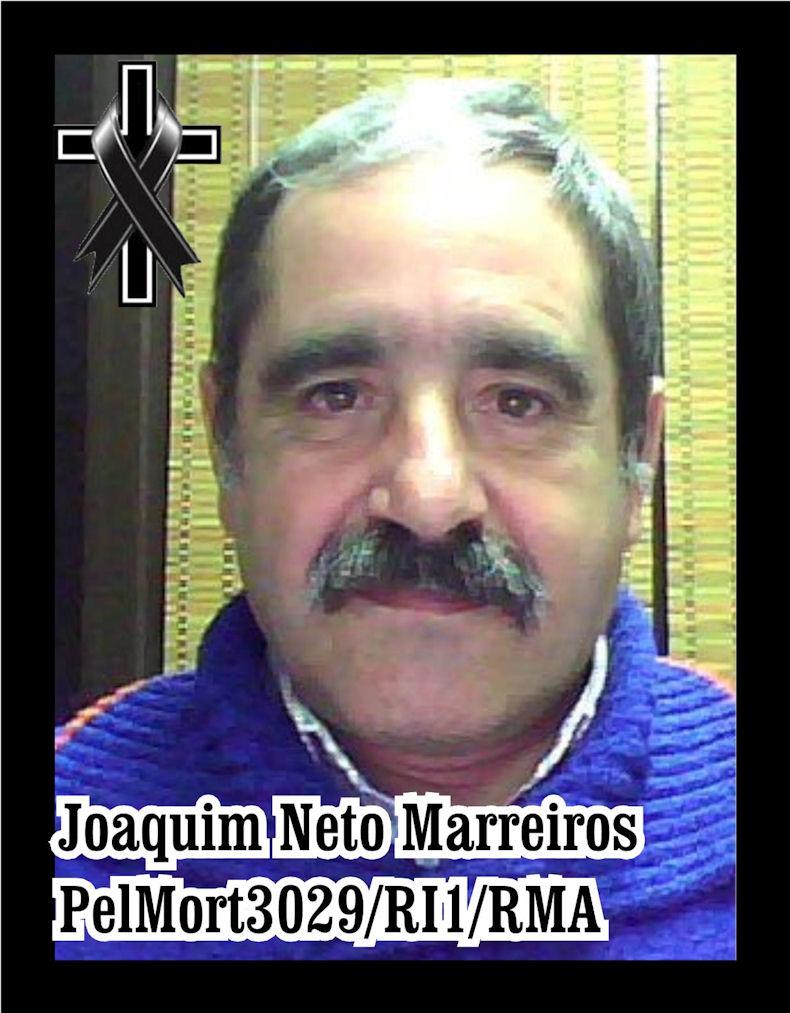 Faleceu o veterano Joaquim Neto Marreiros, do PelMort3029 - 12Ago2020 Joaqui28
