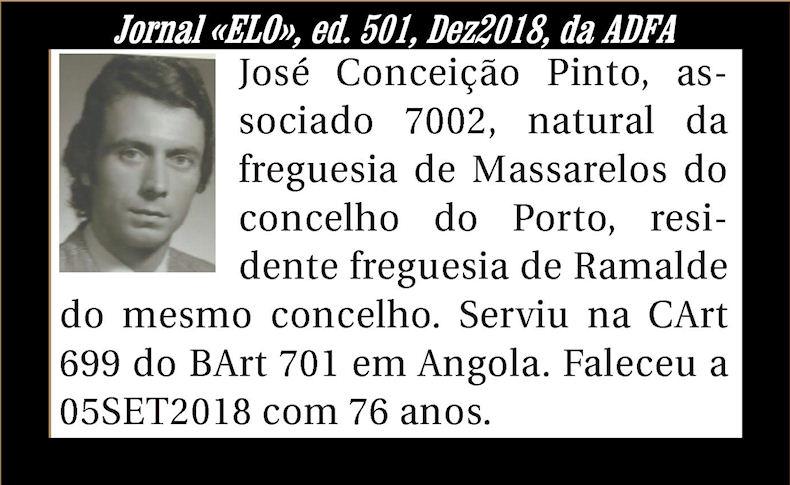 Notas de óbito publicadas no Jornal «ELO» de Dezembro de 2018 da ADFA Joseco10