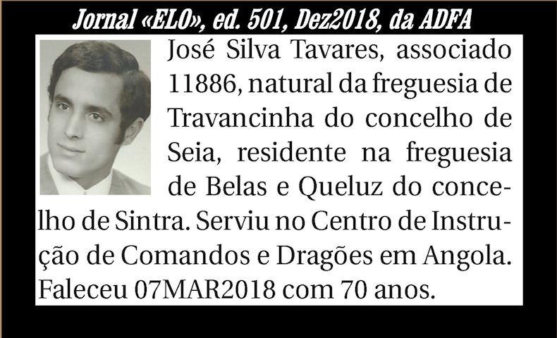 Notas de óbito publicadas no Jornal «ELO» de Dezembro de 2018 da ADFA Josesi10