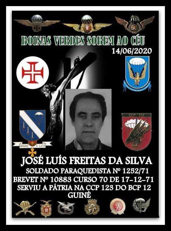 Faleceu o veterano José Luís Freitas da Silva, Soldado PQ, da CCP123/BCP12 - 14Jun2020  Joszo_33