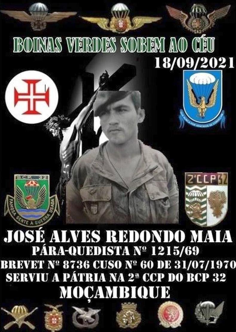 Faleceu o veterano José Alves Redondo Maia, Soldado PQ, da 2ªCCP/BCP32 - 18Set2021 Joszo_75