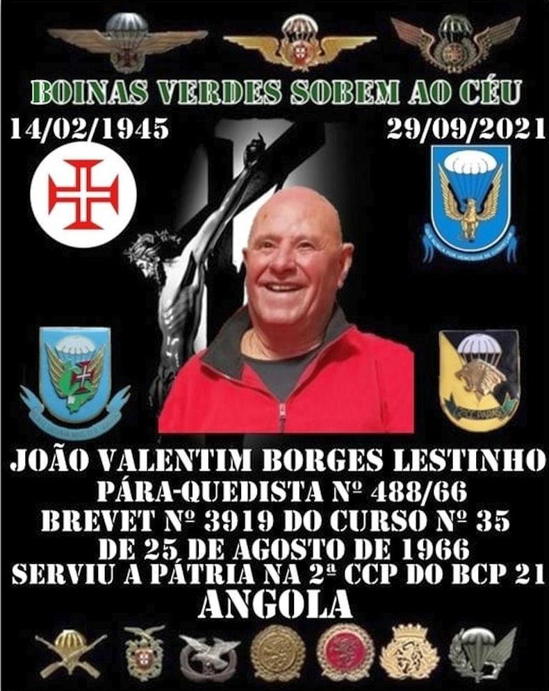 Faleceu o veteerano João Valentim Borges Lestinho, Soldado PG, da 2ªCCP/BCP21 - 29Set2021 Jozeo_21