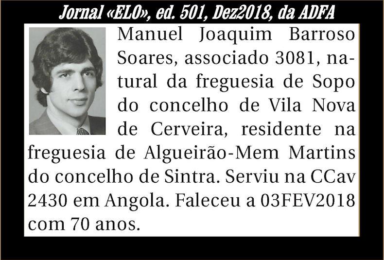 Notas de óbito publicadas no Jornal «ELO» de Dezembro de 2018 da ADFA Manuel12