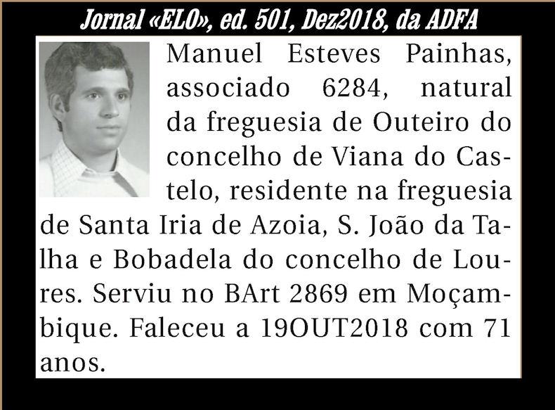 Notas de óbito publicadas no Jornal «ELO» de Dezembro de 2018 da ADFA Manuel13