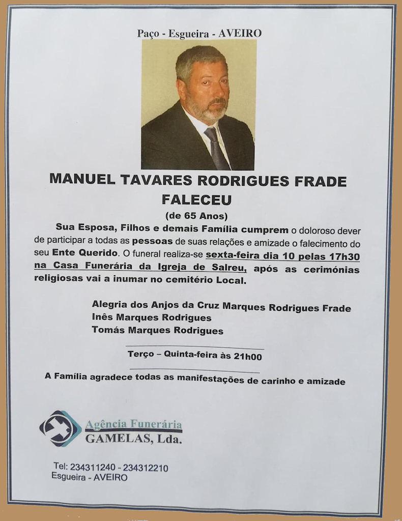 Faleceu o veterano Manuel Tavares Rodrigues Frade, Furriel Mil.º, da 1ªBCac4810/74 - 09Mai2019 Manuel20