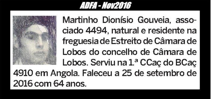 Veteranos falecidos que serviram Portugal em Angola integrados nas subunidades do BCac4910/72 Martin10