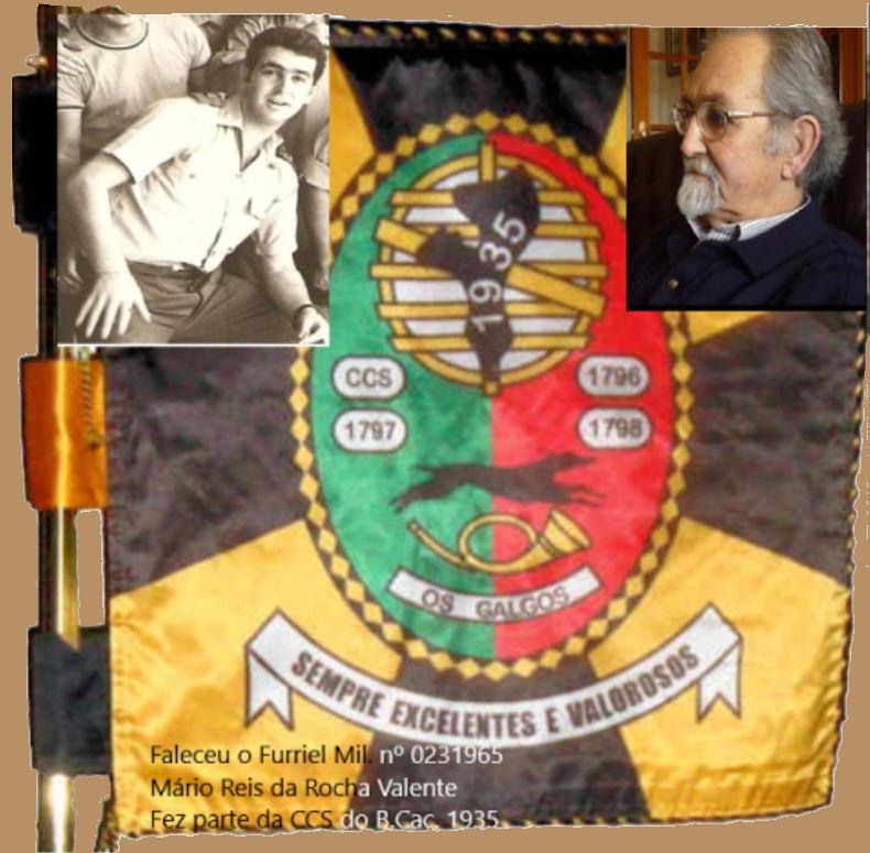 Faleceu o veterano Mário Reis Rocha Valente, Furriel Mil.º, da CCS/BCac1935 - 24Jul2019 Mzerio11