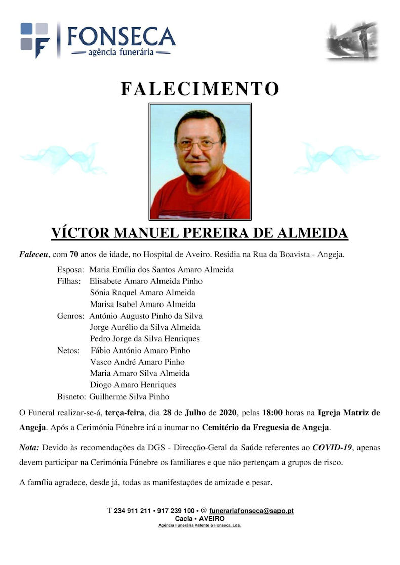 Faleceu o veterano Vítor Manuel Pereira de Almeida, Soldado de Cavalaria, CCS/BCav3862 - 27Jul2020 Vzytor12