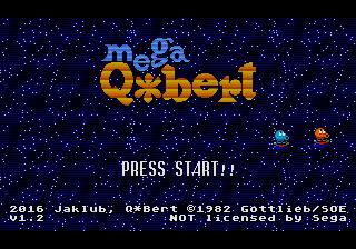Mega Q*Bert (Megadrive) Qbert110