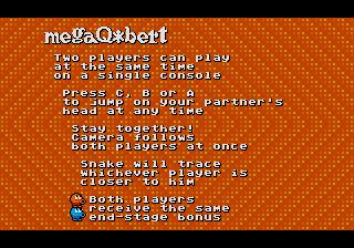 Mega Q*Bert (Megadrive) Qbert210