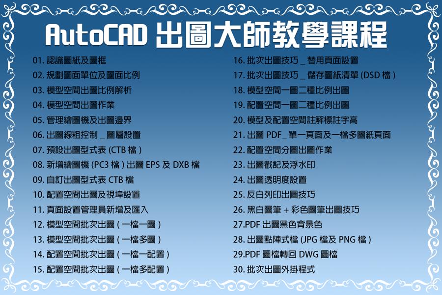 [訂購]AutoCAD 2020 出圖大師_光碟課程/線上課程 0210