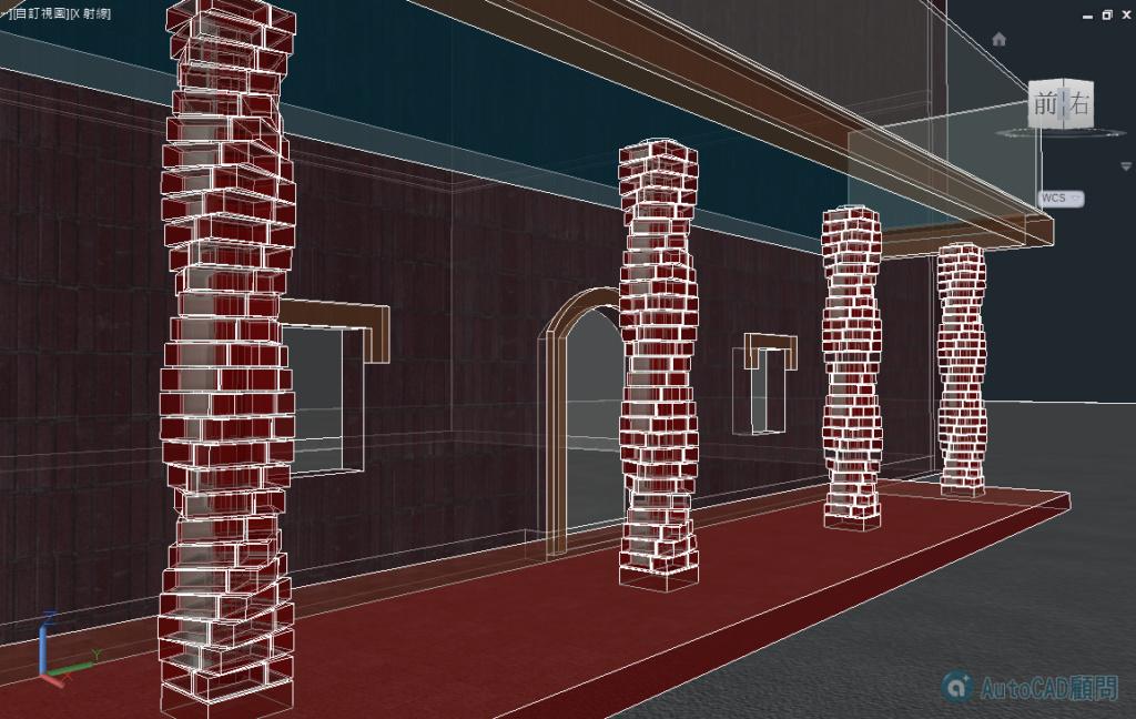 AutoCAD 3D 花式砌磚建模練習 2019_104