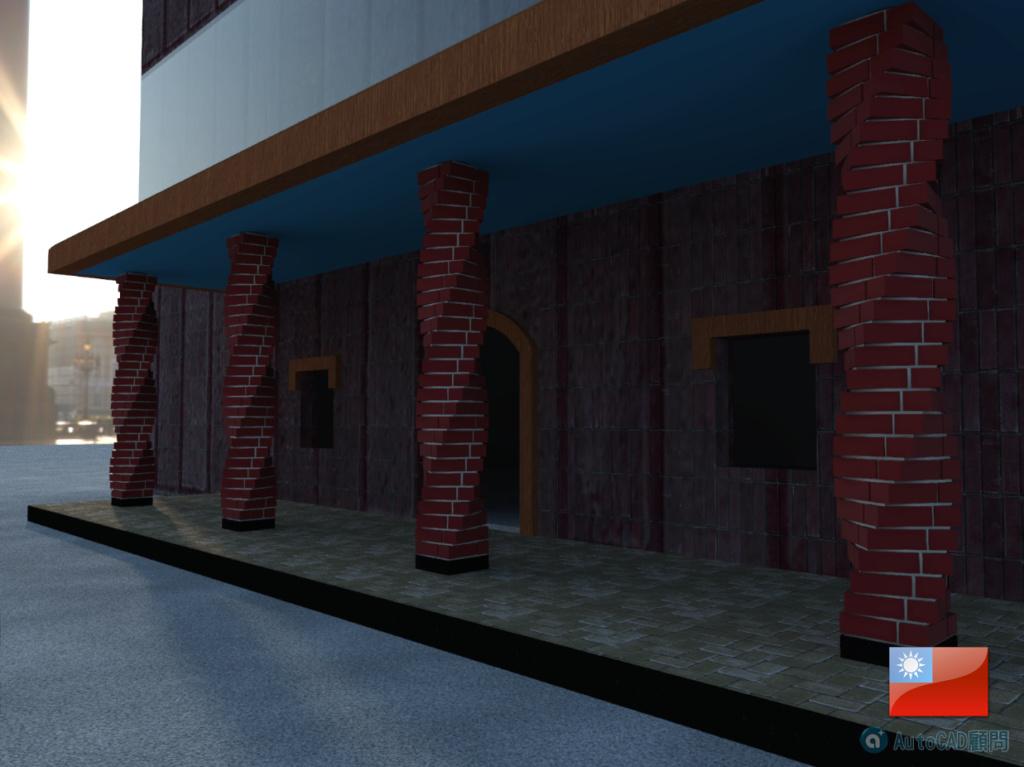 AutoCAD 3D 花式砌磚建模練習 2019_105