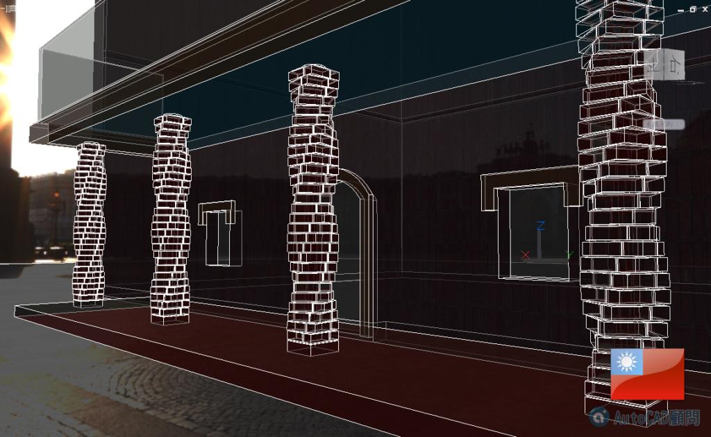 AutoCAD 3D 花式砌磚建模練習 2019_107
