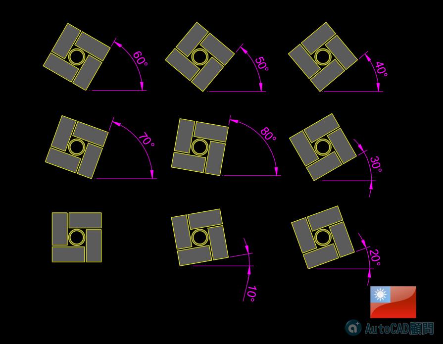 AutoCAD 3D 花式砌磚建模練習 2019_108