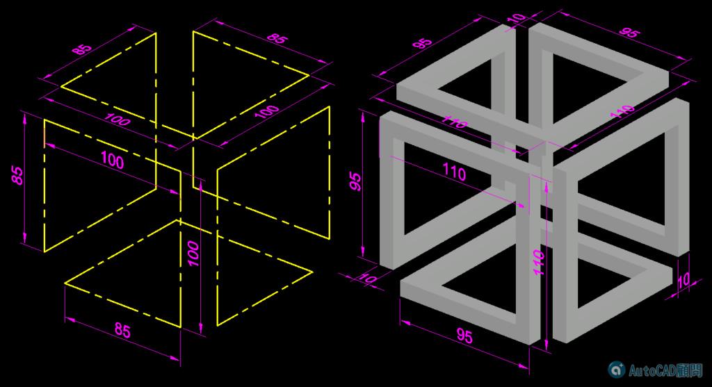 [練習]AutoCAD 3D立體圖形-習題06 2021_020