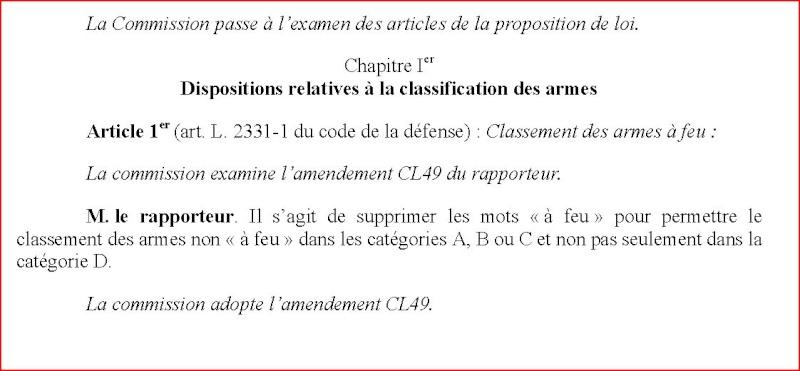 Liste des amendements sur le projet de loi Armes_10