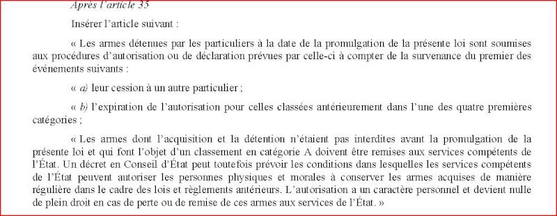Liste des amendements sur le projet de loi Reclas10