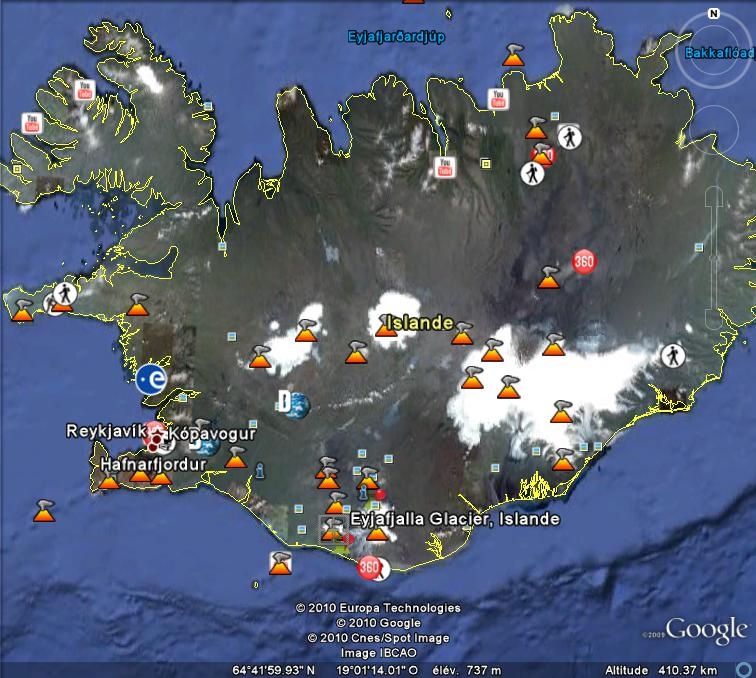 volcan - Eruption volcanique sous glacier - Eyjafjallajokull - Islande Glacie11