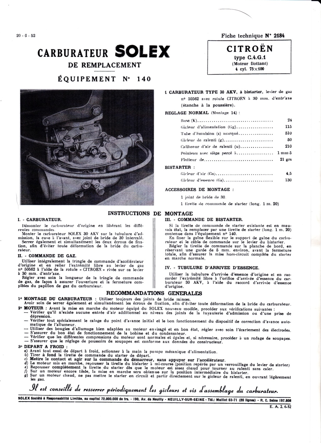 SOLEX 30AKV Fiche_10