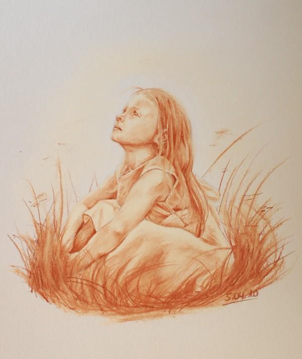 Petite fille dans les champs Petite10