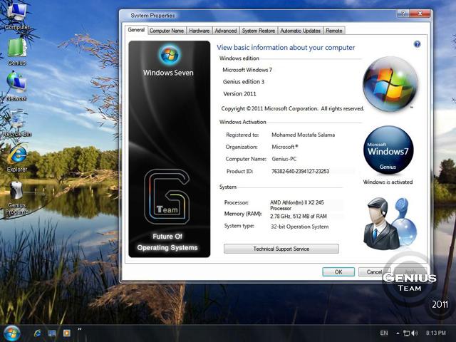 """ويندوز اكس بى الرهيب """" Windows XP 7 Genius Edition 3 """" الويندوز الاخف والاجمل والاقوى. بحجم 697 ميجا  76095110"""