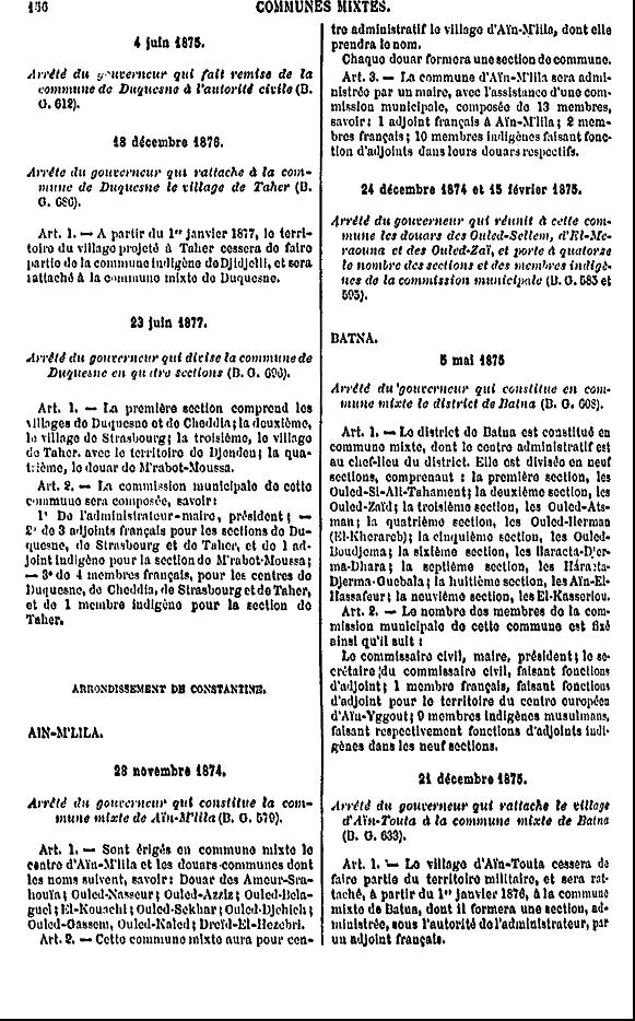 La création de la commune mixte d'Ain M'lila Nouvel11