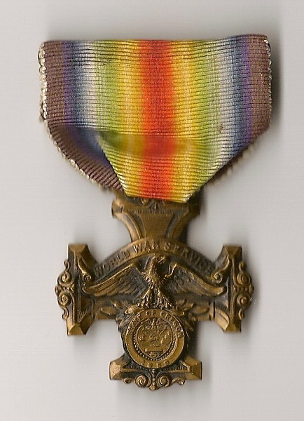 """WORLD WAR SERVICE STATE OF OREGON"" medal Intera10"