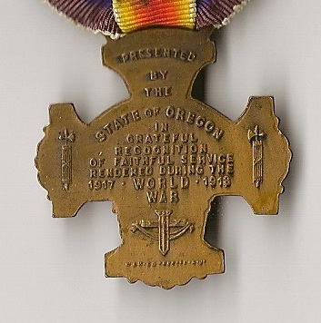 """WORLD WAR SERVICE STATE OF OREGON"" medal Intera11"