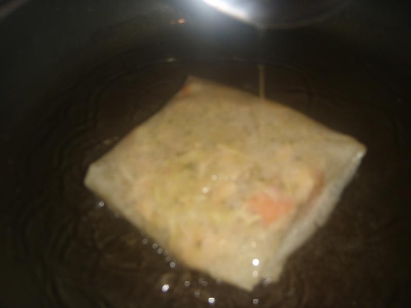 Mini-Bastilla marocaine carrées au saumon cuites sans four Pastil24