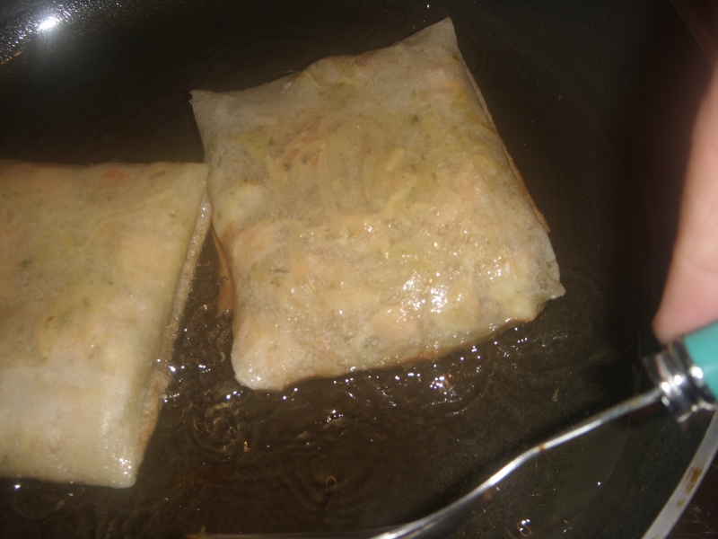 Mini-Bastilla marocaine carrées au saumon cuites sans four Pastil25