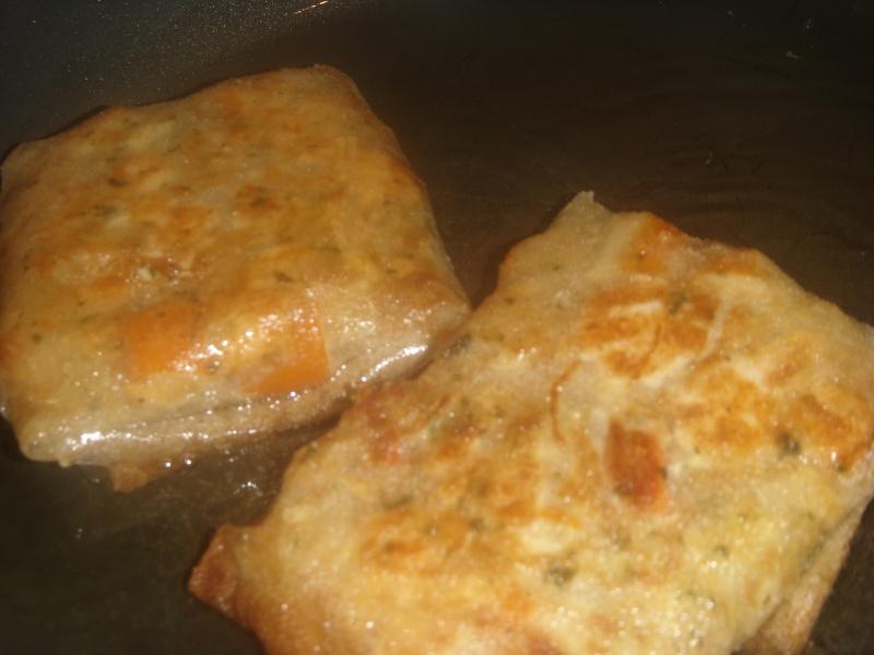 Mini-Bastilla marocaine carrées au saumon cuites sans four Pastil26