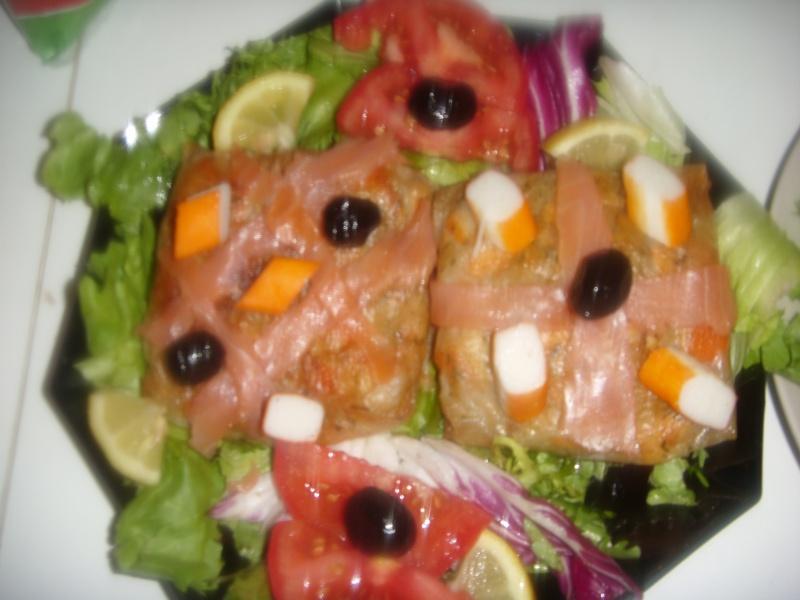 Mini-Bastilla marocaine carrées au saumon cuites sans four Pastil28