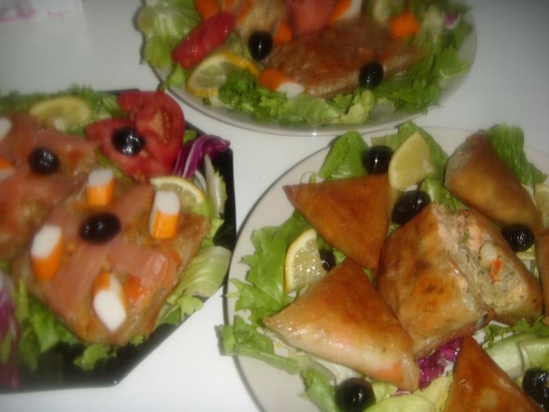 Briwattes ou Briouates marocaines au saumon Pastil34