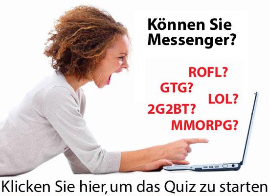 Quiz - Kannst du Messenger? Aufmac10