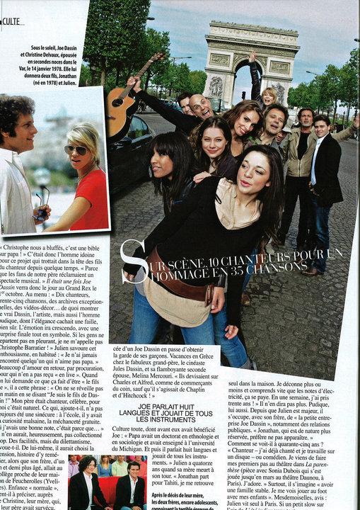 article sur le spectacle de joe dassin dans gala du 26 mai 2010 30266_10